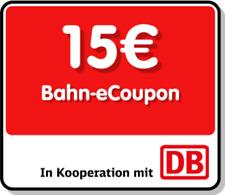 █ 15 €BAHN Gutschein für Fahrkarte NEU eCoupon █ SOFORT VERSAND