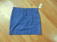 NWT Tommy Hilfiger Cargo Skirt Blue Size 8 Cotton