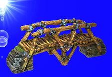 Aqua Ornaments Holzbrücke groß Aquarium 25 8x8x10 Cm