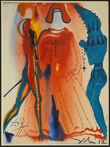 "'75 Salvador Dali ""Romeo and Juliet"" Original Lithograph Hand Signed - COA"