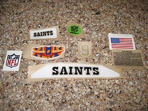 New Orleans Saints  20 mil 3M vinyl full size football helmet decals