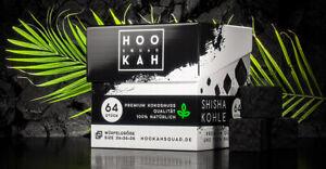 Shisha Kohle 1kg oder 20kg Naturkohle Kokoskohle Hookah Squad Gastro Edition