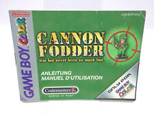 Anleitung - Gameboy Color - Cannon Fodder