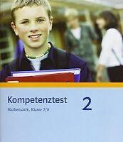 Kompetenztest Mathematik. Klasse 7/8. Arbeitsheft. Mittl... | Buch | Zustand gut