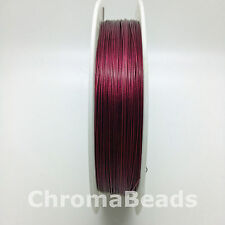 50m roll Tiger Tail - Burgundy - 0.45mm (dark red) beading wire