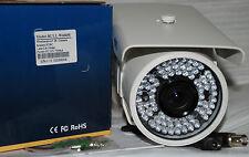 "CCTV CAMERA BULLET 600TVL 1/3"" SONY Super HAD CCD  72IR LEDS 2.8MM-10MM LENS"