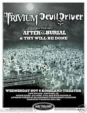 TRIVIUM/DEVIL DRIVER/AFTER THE BURIAL 2013 PORTLAND CONCERT TOUR POSTER - Metal