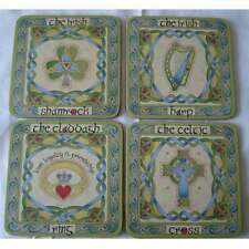 Irish Symbols Heat Resistant Table Coasters - Ireland