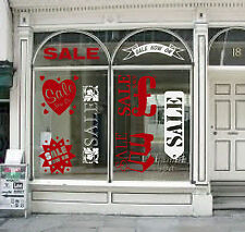 shop window sale stickers display