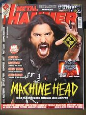 METAL HAMMER 2011 OKTOBER - MACHINE HEAD ANTHRAX MASTODON INCL. POSTER & CD