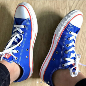 Blue And Orange Converse Shoes UK Size 5
