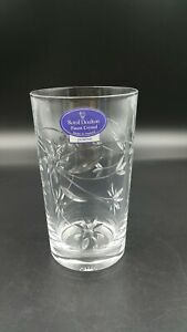 Royal Doulton Jasmine Fine Lead Crystal Two Water Glasses- New with Box