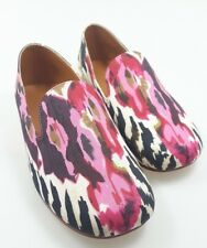 NEW WOMENS *UK SIZE 3 / EU SIZE 36* PINK, BLACK PATTERNED LADIES SLIP ON FLATS