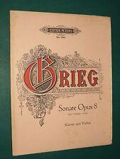"""Partitions """"Sonate en Fa majeur"""" Op. 8  GRIEG"""
