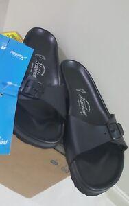 HAWKINS Sandal Footbed Mens Womens, 41/25.5-26cm, BLACK, Made in Spain $59.00