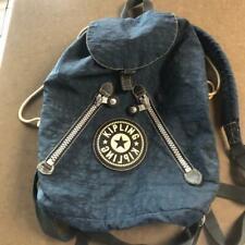 KIPLING Vintage (90s) Dark Blue Drawstring Travel Backpack Medium