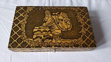 "Antique Union Made Cigars ""A Holiday Smoke"" Santa Chimney Wood Cigar Box"