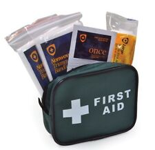 Blue Dot Vehicle First Aid Kit in Green Zipped Pouch with handle