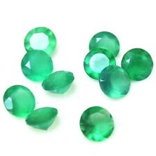 Wholesale Lot of 5mm Round Facet Natural Green Onyx Loose Calibrated Gemstone