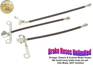 BRAKE HOSE SET Lincoln Continental 1965 Late, 1966 1967 1968 1969