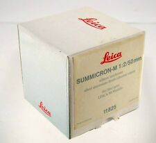 LEICA nur Verpackung only original box Summicron-M  2/50mm 50 CHROME 11825 /18