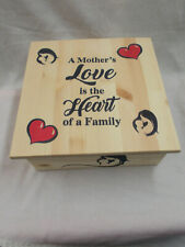 Handmade Wooden Storage Box / Keepsake Box Mother