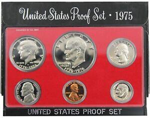 1975s 1976s GEM PROOF Set n Original Box = 6 Coin PRF DEEP CAMEO LOT # 1975s  NR