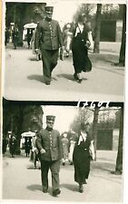 FRENCH POLICE OFFICER ARMY? with Lady Vintage Real Photo PC c1910