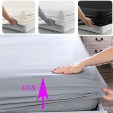 """Count Fitted Sheet 16""""/40CM Deep Pocket 100% Egyptian Cotton Fully Bed Sheets"""