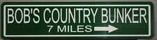 """METAL STREET SIGN """"BOB'S COUNTRY BUNKER"""" BLUES BROTHERS BELUSHI BLUESMOBILE"""