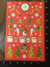 CHRISTMAS STICKERS - BY DARICE - ONE SHEET OF BEAUTIFUL STICKERS - #BELEN05
