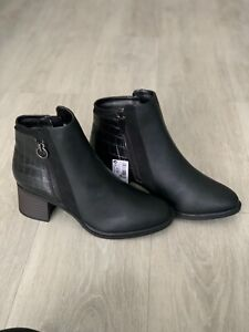 Next forever comfort block heel boots women's  black sizes 4-7 NEW WITH TAGS!