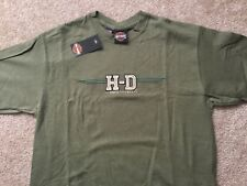 Harley Davidson H-D logo Army Green Shirt NWT  Men's Large