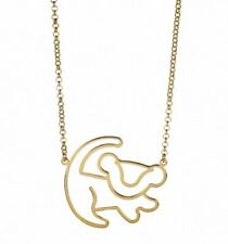 Official Gold Plated Simba Outline Lion King Necklace