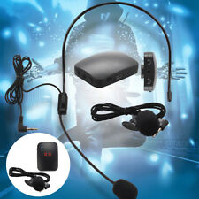 Wireless Microphone FM Radio Transmitter Headset Tour Guide Clip-On MIC Hot