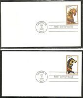 US SC # 2390-2393 Carousel Animals FDC. Ready For Cachet