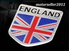 3D Aluminium UK England Flag Shield Shape Logo Decal Badge Sticker Emblem G206