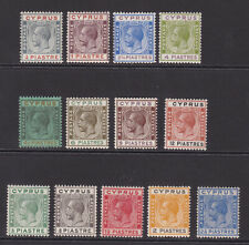 Cyprus. 1924-28. Fine unmounted mint selection.