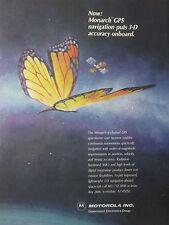 1989 PUB MOTOROLA ELECTRONICS MONARCH GPS SATELLITE BUTTERFLY PAPILLON AD
