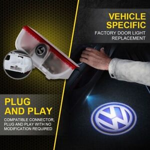 2x WIRELESS LED Car Door Logo Projector Puddle Courtesy Light for Volkswagen