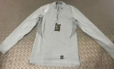 Nike Mens Pro Warm 1/4 Zip Fitted Dri-FIT Training Shirt Gray SZ S 725033-065