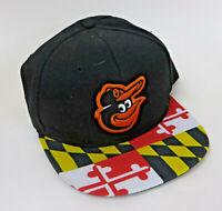 Baltimore Orioles Maryland Flag Brim SGA Dap Snap Back Hat Cap
