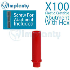 100 Plastic Castable Abutment With Hex Dental Internal Hex Ft Alpha Bio Zimmer