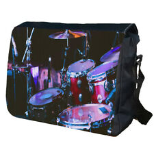 Drum Kit Personalised School Shoulder Messenger Bag