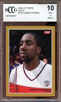 2009-10 Topps Gold #319 James Harden Rookie Card BGS BCCG 10 Mint+