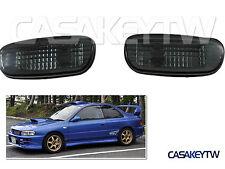 Black Side Turn Signal Indicator Marker Lights For 93-00 Subaru Impreza Sgc1U