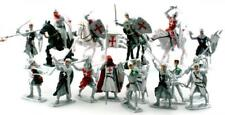 Plastic Toy Soldiers Templar Knights Crusaders Painted Figure Set FREE SHIP