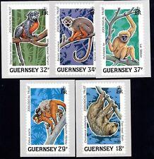 Guernsey Postkartenserie Tiere des tropischen Regenwaldes 1989