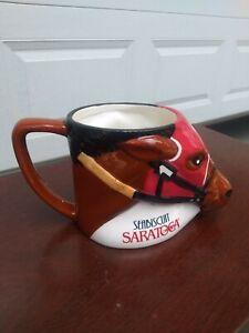 Vintage Sea Biscuit Saratoga Horse-Shaped Coffee Mug!   Excellent!!!