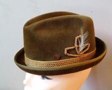 NWOT Triumph by Champ brown velour felt men's fedora hat